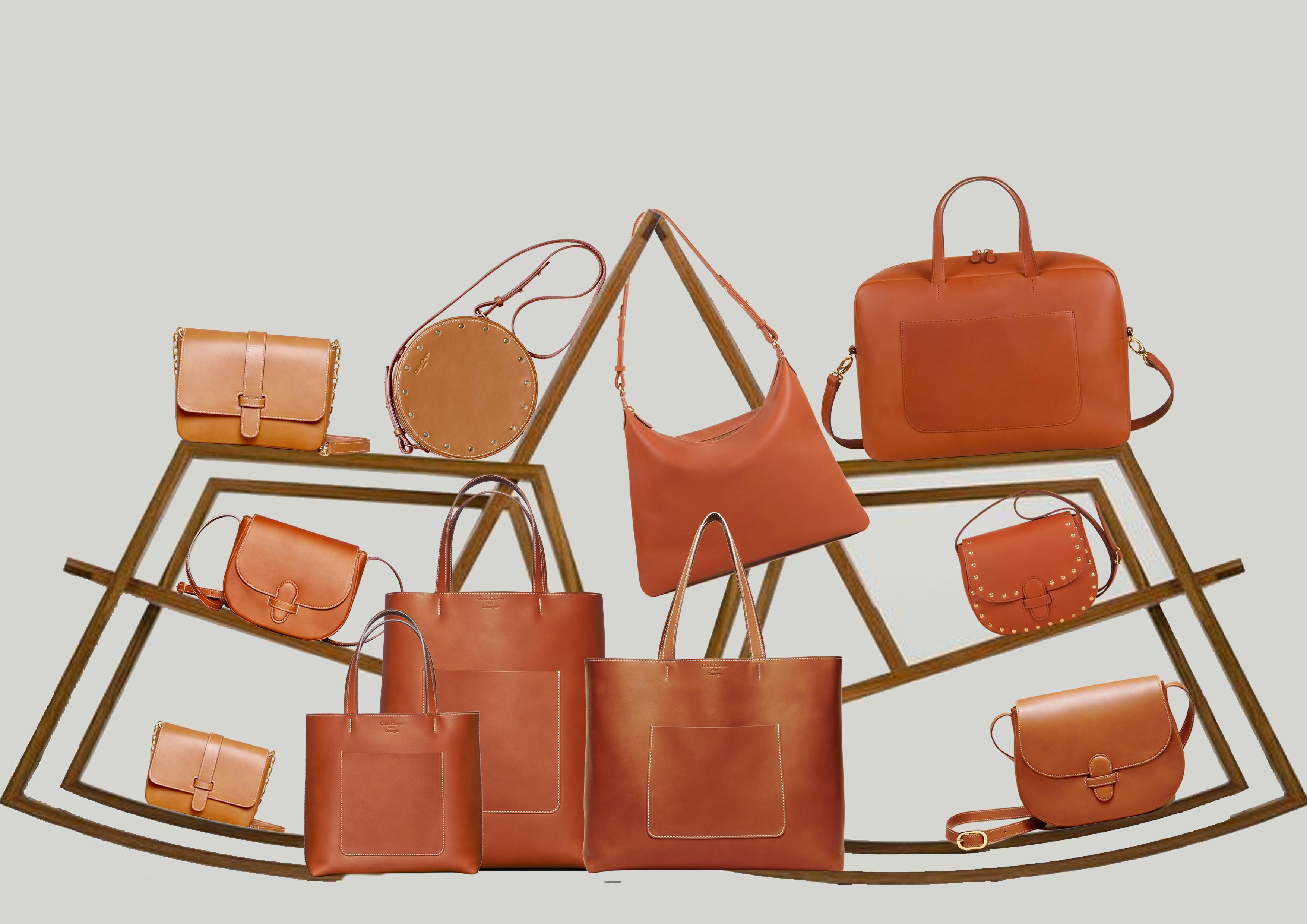 article-Ligne de sacs en cuir à tannage végétal olivia clergue